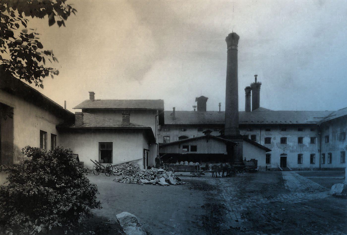 dvůr pivovaru Náchod 1894