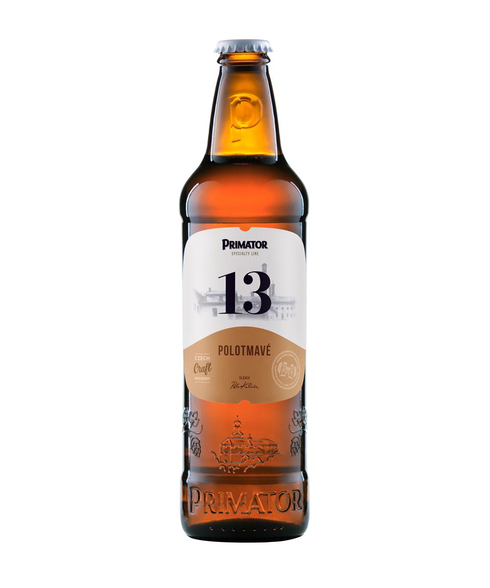 láhvové pivo PRIMÁTOR 13 POLOTMAVÉ