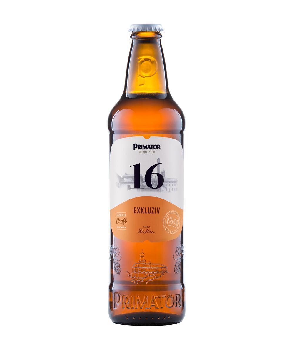 láhvové světlé pivo PRIMÁTOR 16 EXKLUZIV