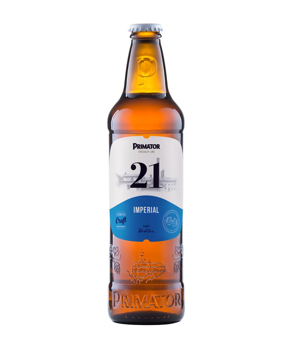 láhvové pivo PRIMÁTOR IMPERIAL