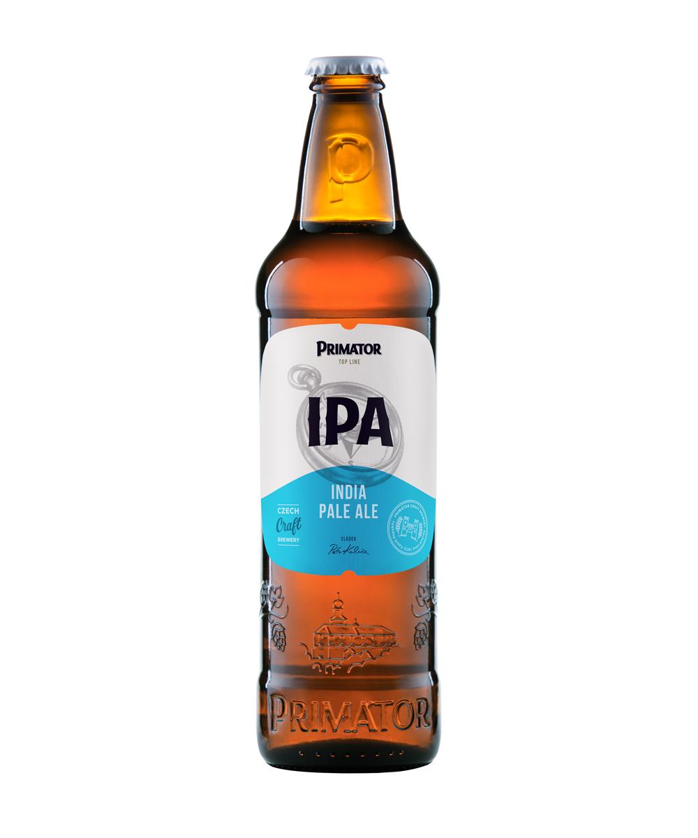 láhvové pivo India Pale Ale PRIMÁTOR IPA